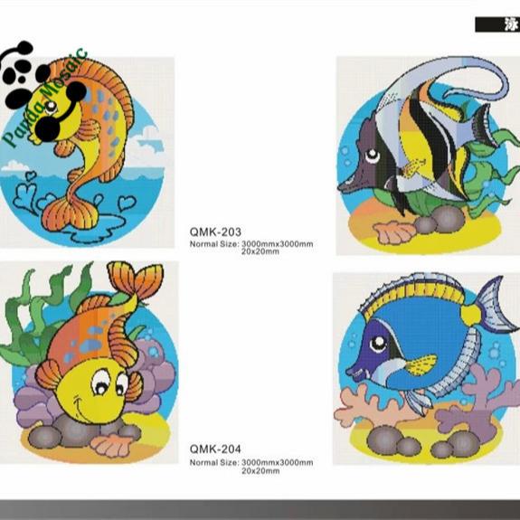 Mb Dekoratif Hewan Desain Mosaik Mosaik Kaca Untuk Kolam Renang