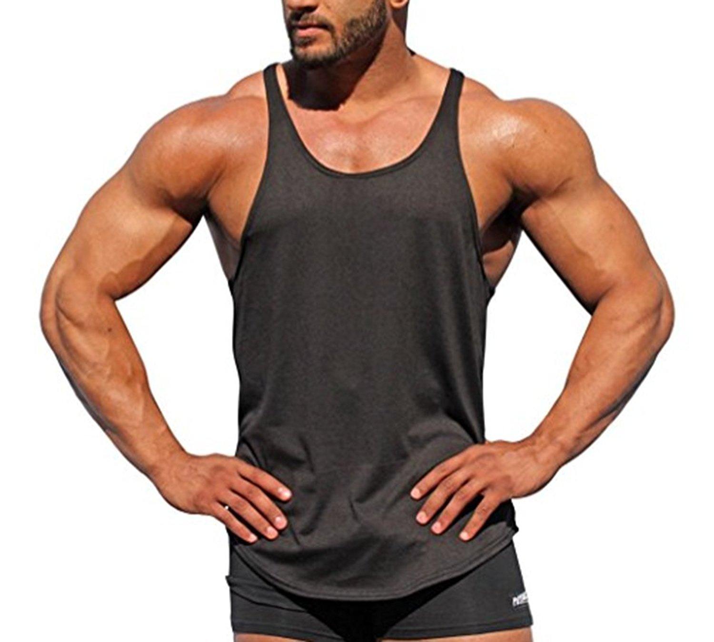 80fc97038e59a Get Quotations · TheFound Mens Y Back Stringer Bodybuilding Tank Top Gym  Vest