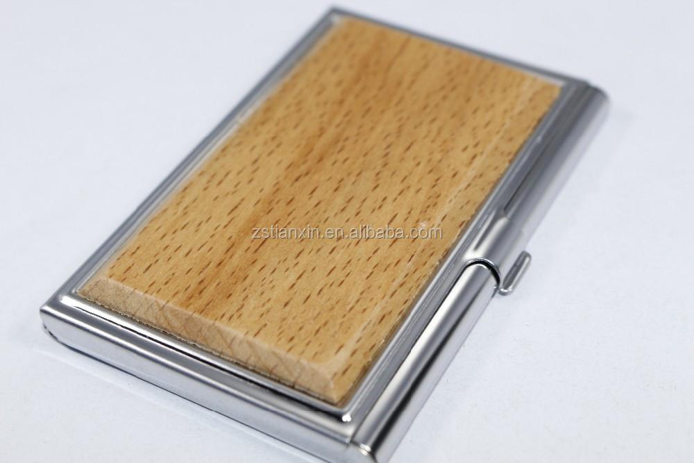 Business Card Holder Metal Mix Wood,Handmade Wooden Bulk Name Card ...