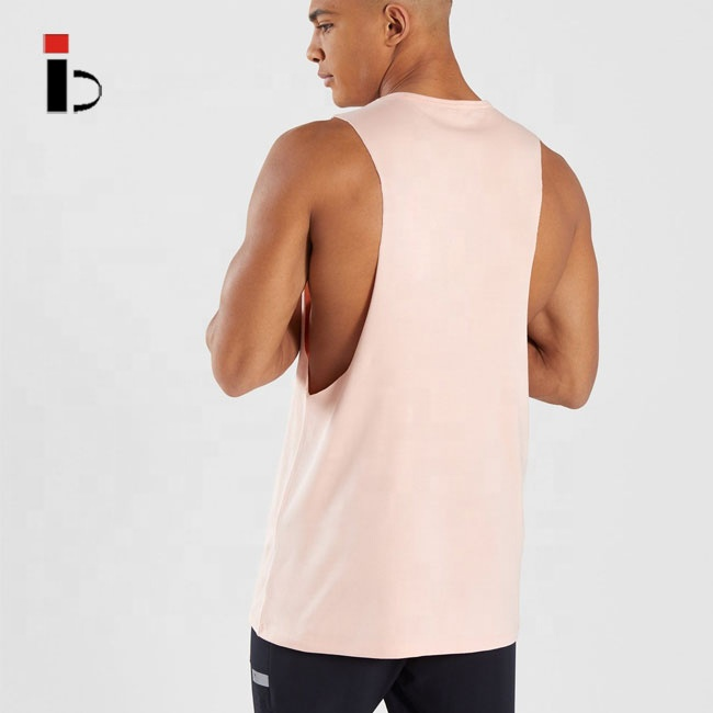 Best quality 100 cotton gym fitness tank top for men