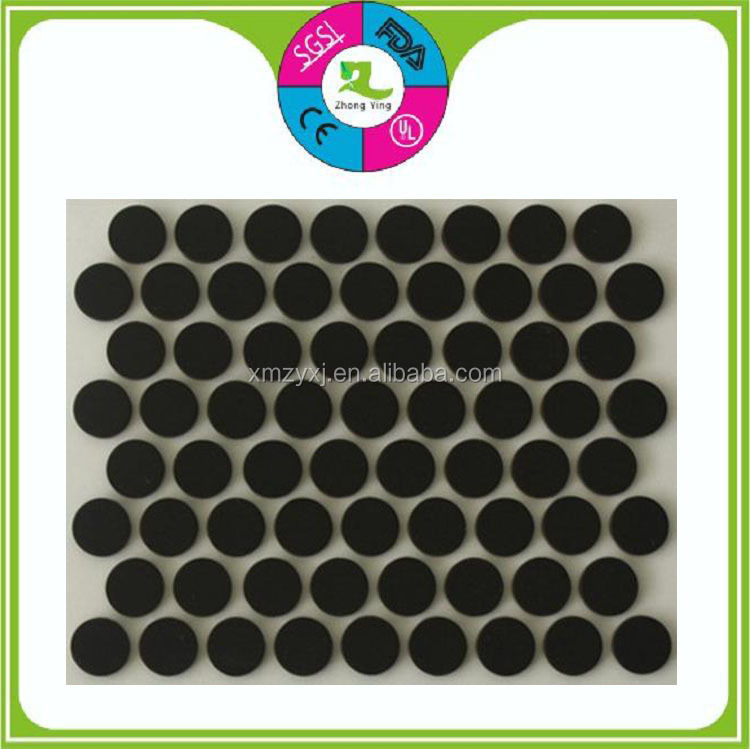 manufacturer round square gel electronics antiskid silicone rubber foot pad