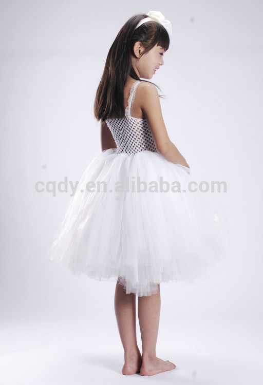 2014 Elegant White Flower Girl Dress With Silk Flower/12 Year Old ...