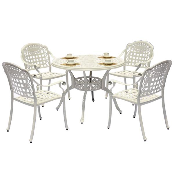 Cast Aluminum Frame Patio Chairs And Round Table Outdoor Patio Furniture Sets 5pcs White Aluminium Cast Chair Buy Belyj Alyuminievyj Litoj Stul Litaya Alyuminievaya Mebel Nabory Trostnikovyj Obedennyj Stol Nabor Stulev Product On Alibaba Com