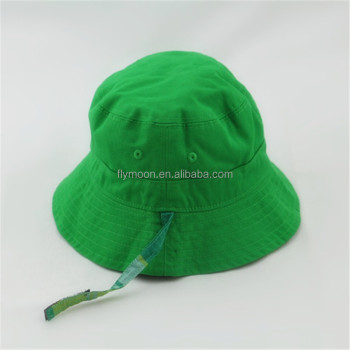 Cheap Green Baby kids Bucket Cap With Strings For Wholesale 93c322b2392