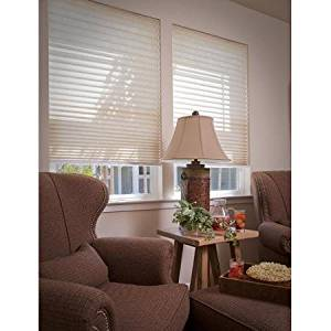 No-Tools, Easy-Lift, Trim-At-Home, Pleated Light-Filtering Shade, Natural