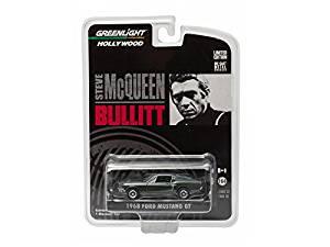 "1968 Ford Mustang GT Fastback Green Bullitt ""Steve McQueen"" (1968 ) 1/64 Model Car by Greenlight"