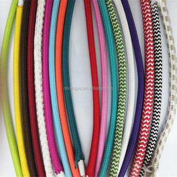Dekorative Vintage Stoff Beleuchtung Kabel Tuch Eingewickelt ...
