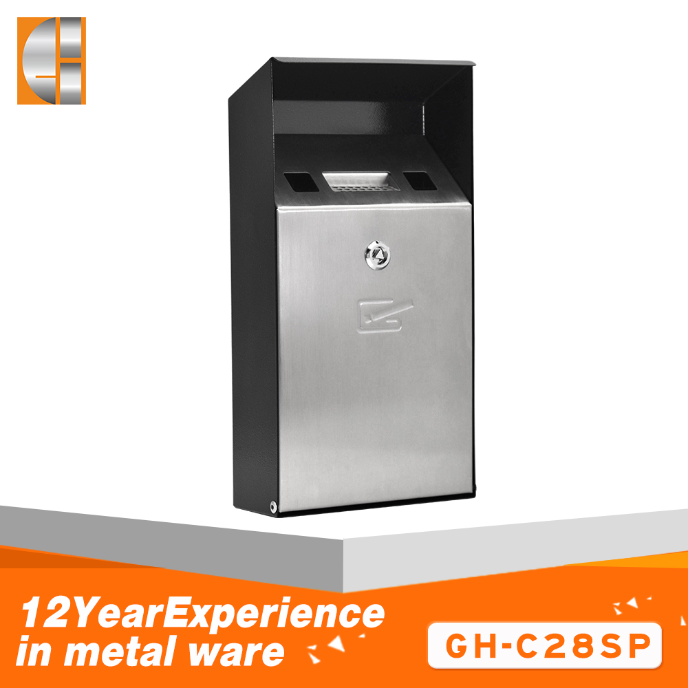 Top quality waterproof stainless steel cigarette ashtray bin