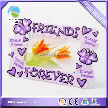 Friends Forever Bff Friendship Soft Pvc Rubber Decorative Photo Frame