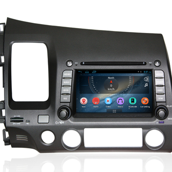 8 Inch Capactive Touch Screen Car Dvd Gps Android Stereo For Honda Civic 2008