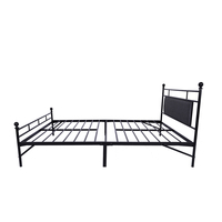 French style king queen adult size black metal bed frame