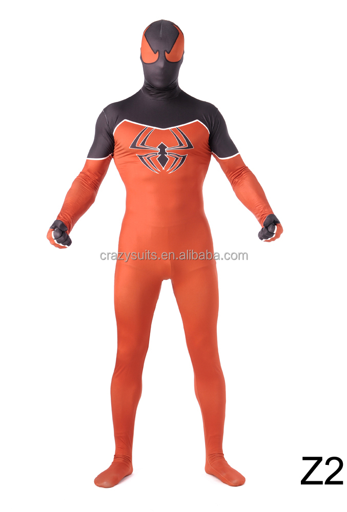 Orange Spiderman Morph Zentai Suits