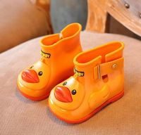 Fancy plastic kids rain boots