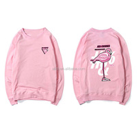 Autumn and winter the new Flamingo printing family cotton pullover sweaters
