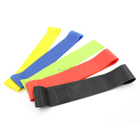 Wholesale latex 5 levels custom printed elastic stretching exercise fitness resistance loop bands