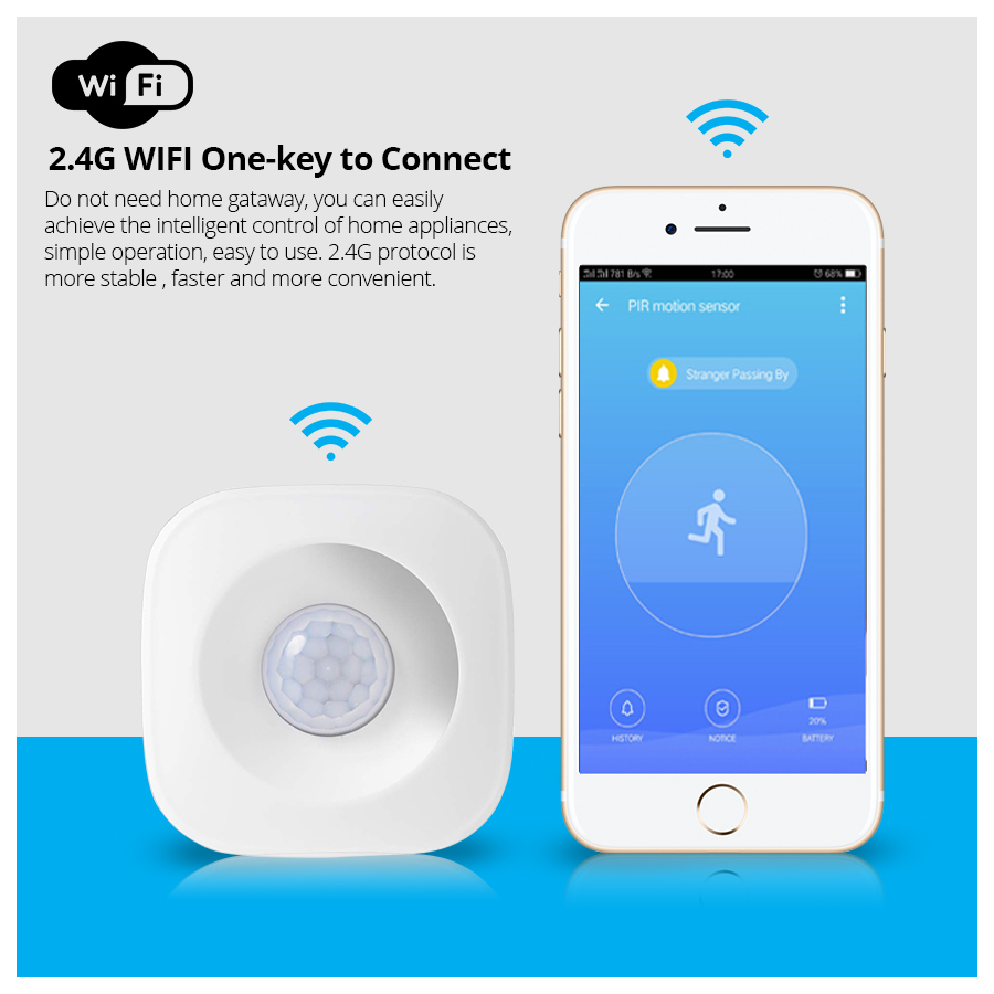 Tuya Smart Life Wireless 433mhz Pir Alarm Sensor Motion Pir Sensor Infrared  Detector For Home Security Alarm - Buy Home Pir,Home Sensor,Security Alarm