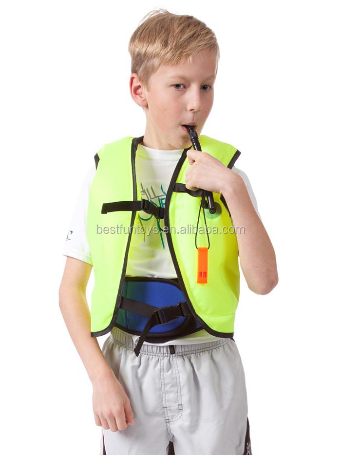 Kids Safety Inflatable Swim Vest Children Swim Life Jacket