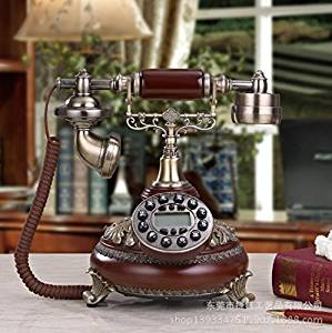 JQYD Antique telephones fashion creative craft / antique telephone antique marble European retro telephone