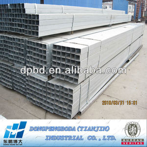 construction material alibaba China suppliers DPBD galvanized square steel pipe