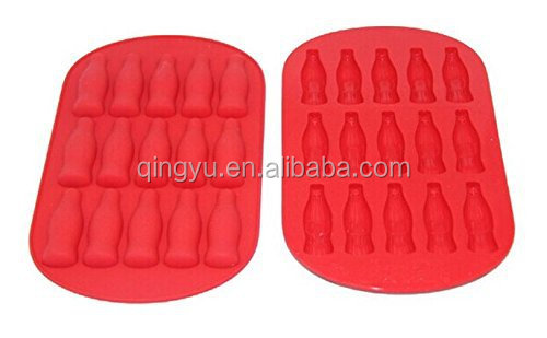 Coco Cola Ice Cube Tray, cola bottle shapes Silicone Ice Tray Mold 100% Food Grade Ice Tray