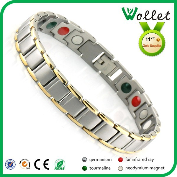 2015 stainless steel fashion positive jewelry germanium quantum scalar energy bracelet