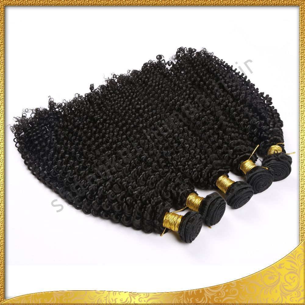 Deep Wave Curl Brazilian HairHuman Hair Weave