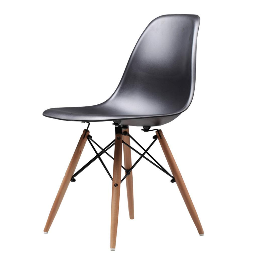 Wooden Chair Creative Office Stools Kitchen Dining Table Meeting Room Backrest Business Computer Chair Barstools,45x45x82cm,Black