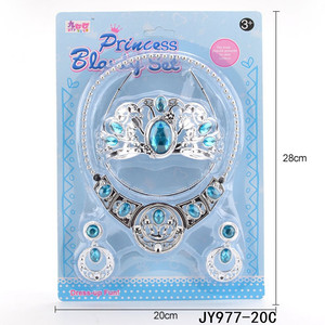 Shantou Factory Kids Toys Plastic Princess Tiara Crown Jewelry Toy For Girls