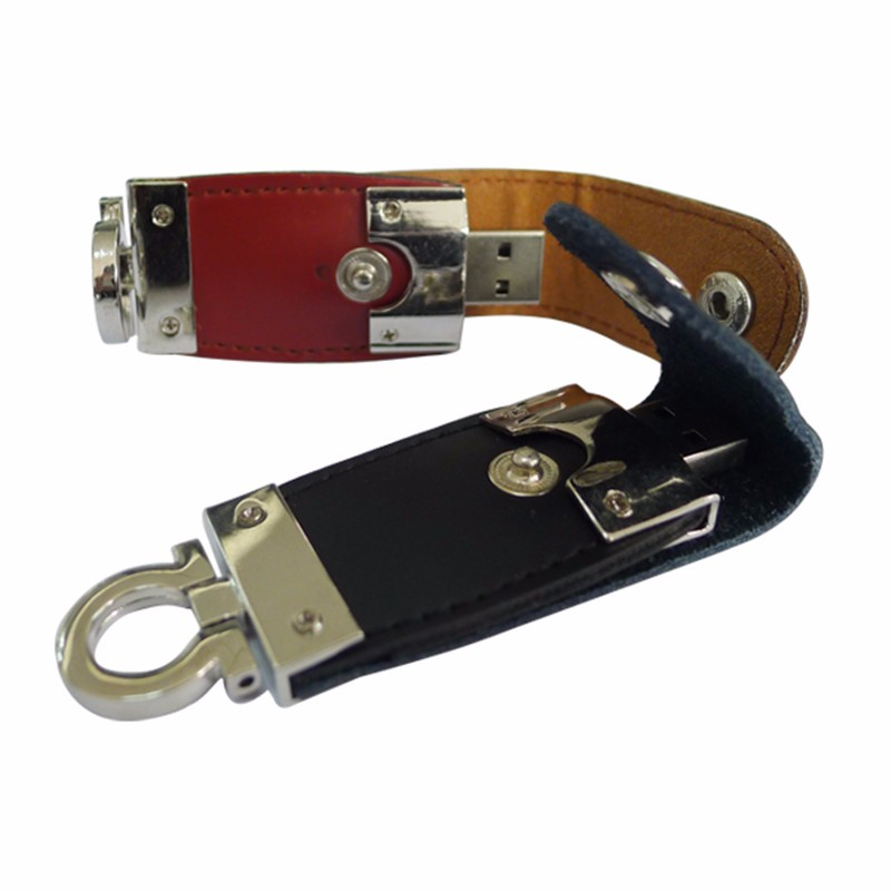 128GB USB 2.0 Key Ring leather USB Flash drive with free logo
