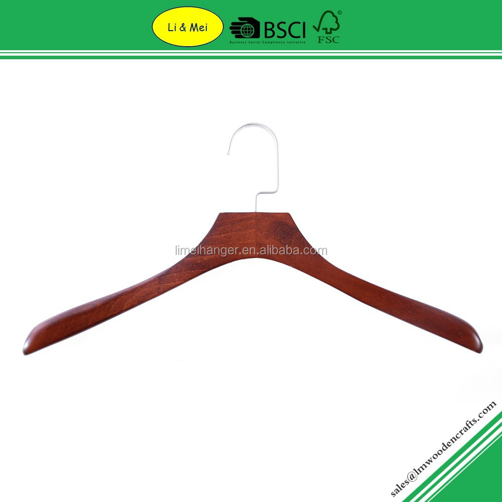 LM2341 Wholesale Vintage Wide Shoulder Wooden Hanger for Office Suit