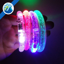 2017 Hot Sale LED Glow Acrylic Bracelets for Party Favors Toys
