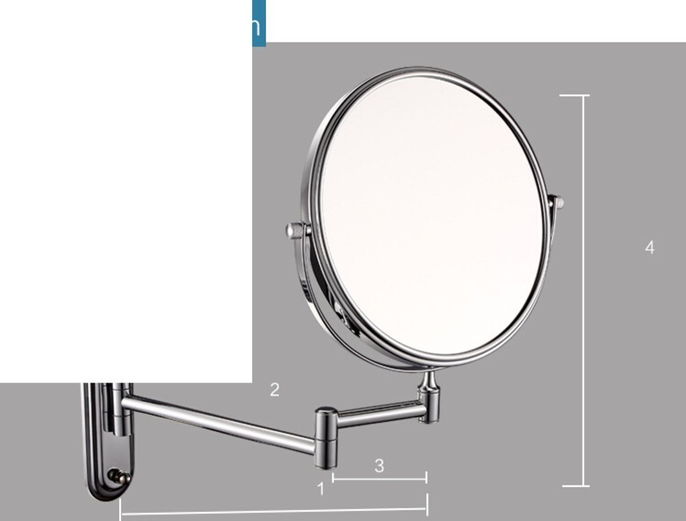 YAOHAOHAO Cosmetic mirror/bathroom walls Bathroom Mirrors Mirrors Telescope A- & double sided cosmetic mirror/-A
