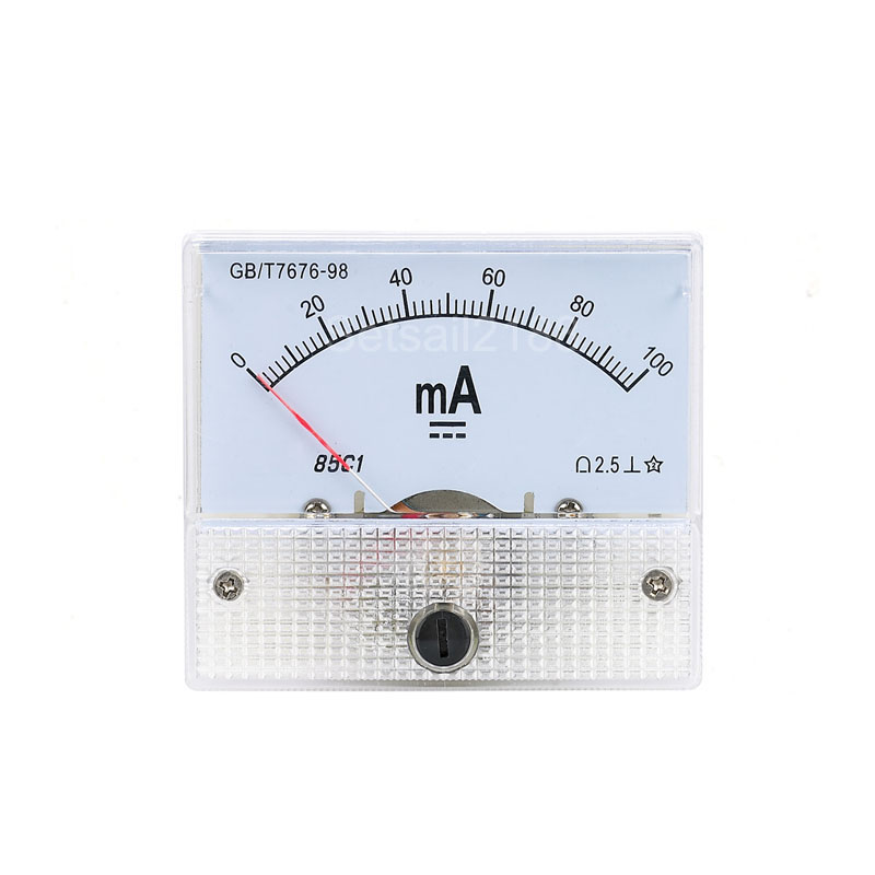 85C1 85C1-A DC Analogico Amperometro Corrente Panel Meter Gauge DC 1A 2A 3A 5A 10A 20A 30A
