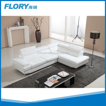 Top grain leather sectional sofa modern furniture F1360 View top
