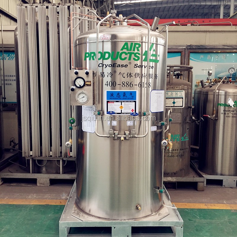 450L/1000L Stainless steel Cryogenic Storage Tank for Liquid O2/CO2/LNG