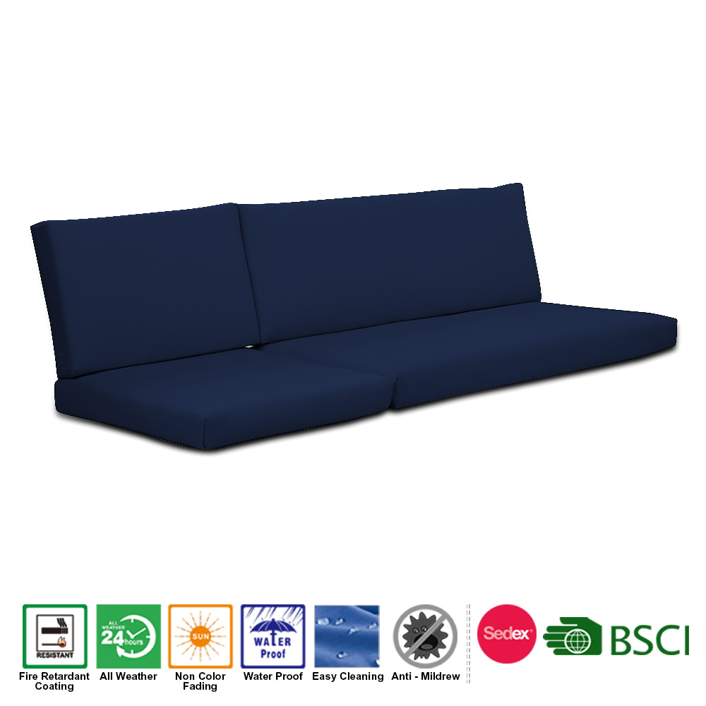 Custom Water repellent Polyester Garden Buy Sofa Cushion Seat and Back Replacement Cushion Set