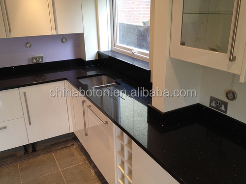 Wholesale Pure Black Quartz for Kitchen Worktops