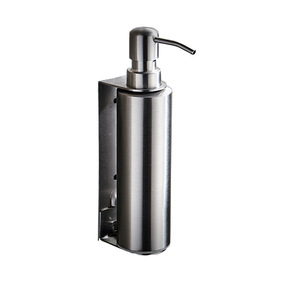 Home Hotel Bath Silver Stainless Steel Hand Pressing Sanitizer Foam Soap Dispenser