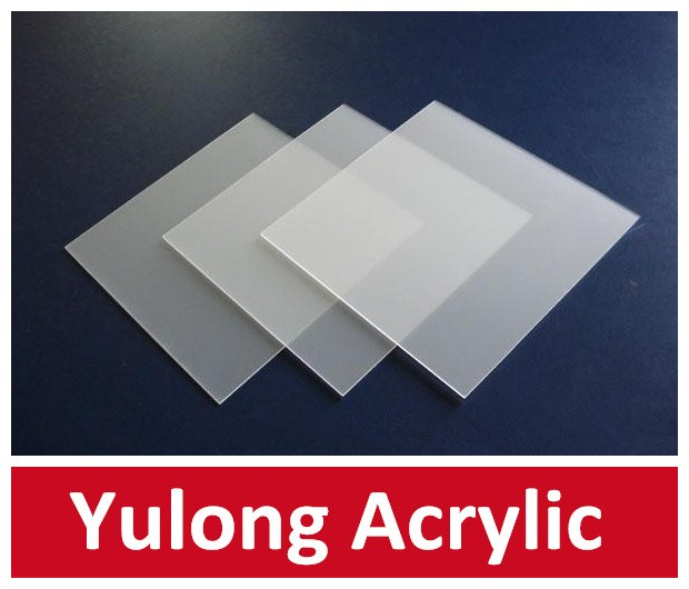 Yulong two ways frosted acrylic sheet /double sides acrylic sheet /frosted acrylic,acrylic block,acrylic fabrication
