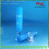 25g blue cosmetic soft PE tube with double layer screw cap for facial cleaner