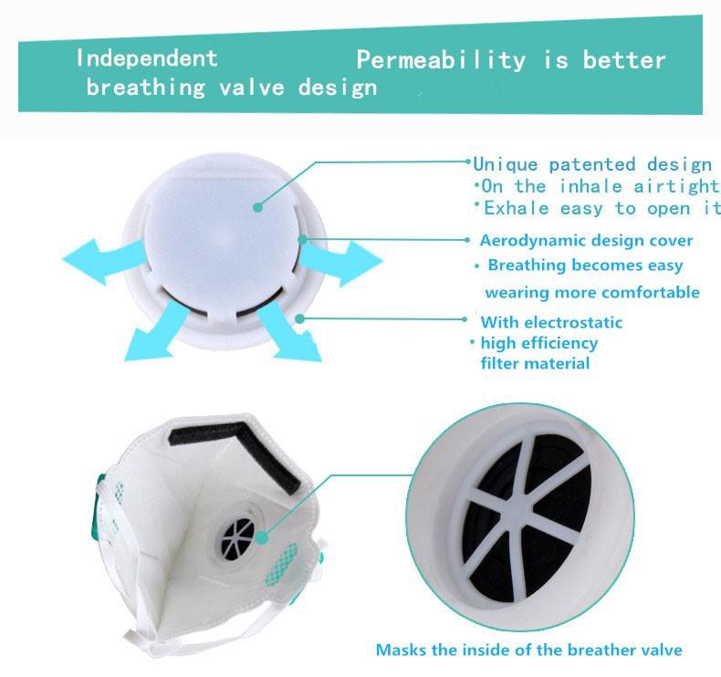 N95 Anti Dust Folding Active Carbon Valve Respirator Mask