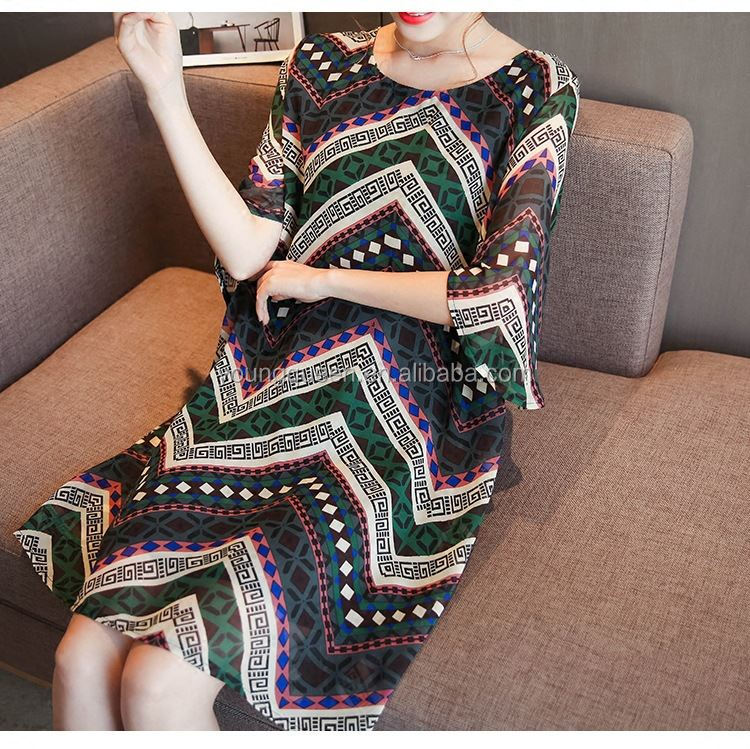 ZY13 2017 maternity Chiffon Korean retro loose sleeve dress tide female pregnant women dress