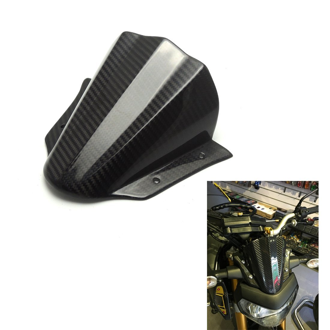 FZ 09 Windshield WindScreen Carbon Fiber for Yamaha FZ 09 2014 2015 2016 2017