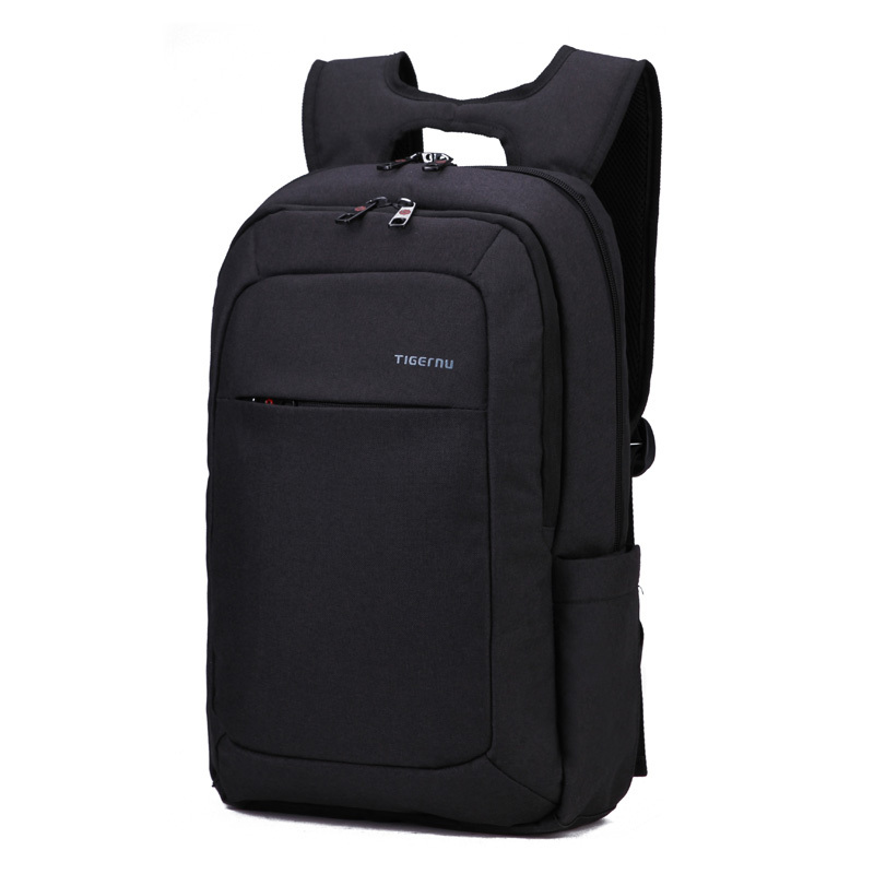 "Laptop Backpack 14 15"" Laptop Bags for Women Men Bag to Computer Mochila Feminina Light Weighted Black Slim Women Backpack"