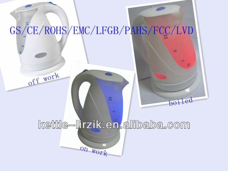 2012 NEW STYLE electronic kettle,plastic electric kettle