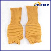 HZS-13247003 2016 fashion warm unisex new design ladies pretty beautiful yellow knit gloves