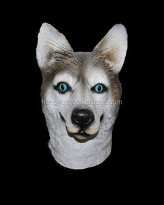 Halloween Creepy Adult Wolf Head Latex Rubber Mask Novelty Costume Prop