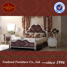 YB11 Hgih quality hotel furniture Turkish wooden carved bed furniture