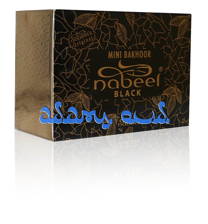 Black Oud 3g x36 Pieces by Nabeel - Bakhoor Oudh - Individually Sealed Bukhoor - Mini Bakhoor Nabeel Black 3g x 36 Pieces by Nabeel - Bakhoor Oudh - Individually Sealed Bukhour