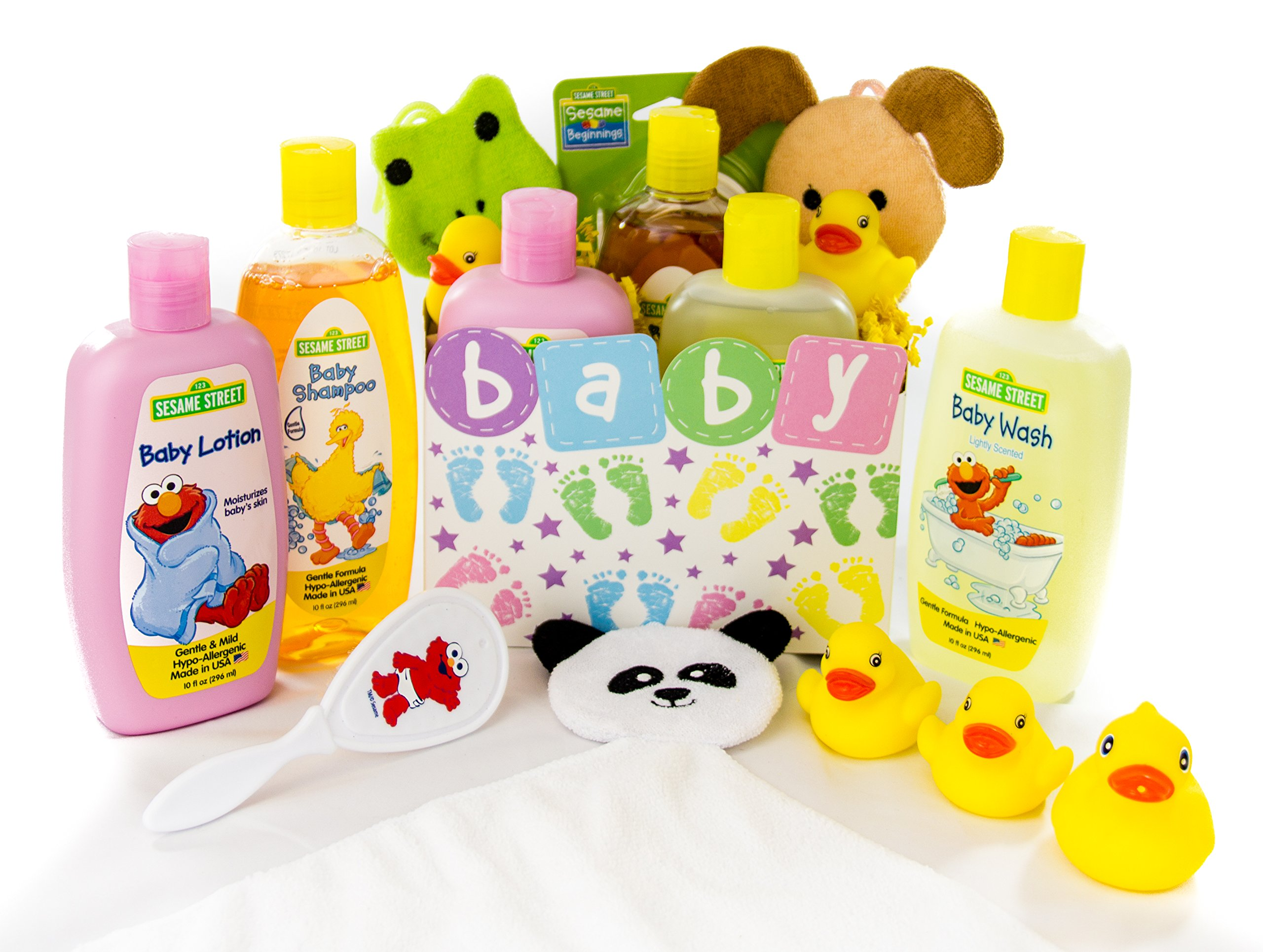 Bubble Bath Time Gift Basket for New Moms, Baby Showers a Great Gift Set (Baby Neutral)